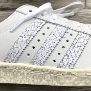 Adidas Superstar 80s snake effect leather sneakers NWT